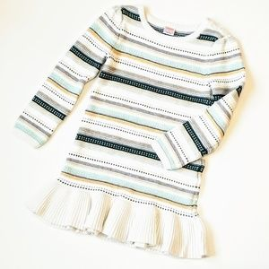 Gymboree NWOT Sweater Dress With Ruffled Hem
